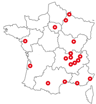 Carte agences Professionnels