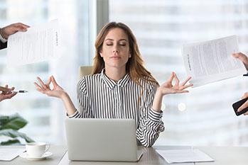 visuel méditation au travail